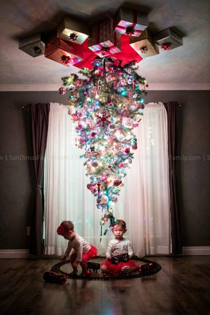 Christmas Tree Family Photography San Dimas